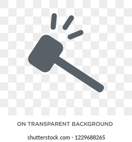 Trendy flat vector slapstick icon on transparent background from Cinema collection. High quality filled slapstick symbol use for web and mobile