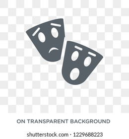 Trendy flat vector tragedy icon on transparent background from Cinema collection. High quality filled tragedy symbol use for web and mobile
