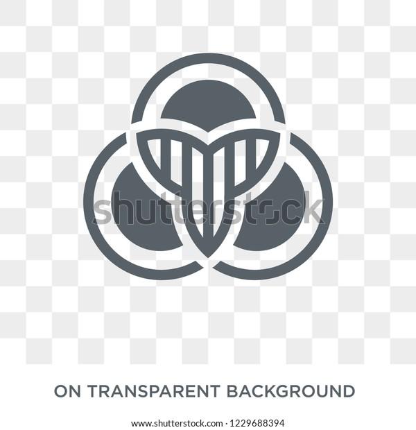Trendy Flat Vector Venn Diagram Icon Stock Vector Royalty