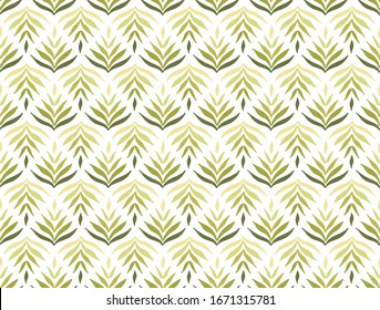 Trendy floral seamless pattern. Fabric design with vector flowers background.
