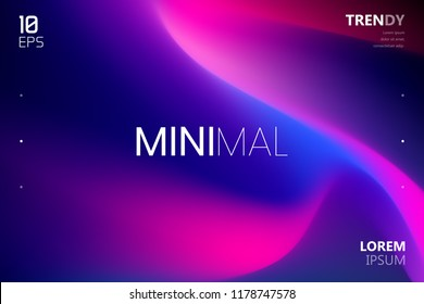 Trendy Fluid Gradient Shape Isolated on Black Background. Abstract Watercolor Backdrop. Color Flow Design