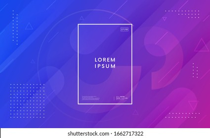 Trendy geometric background. Abstract gradient backdrop with shapes.