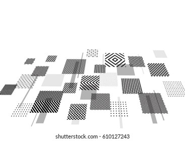 Trendy geometric elements. Background for web technologies, Internet, business. Modern abstract design poster, cover, card design.