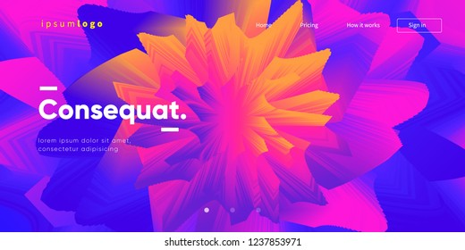 Trendy geometric wallpaper. Web page background template. Eps10 vector.