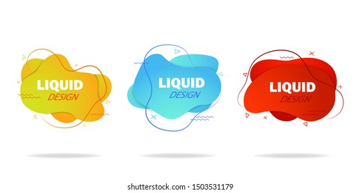 Trendy gradient liquid shape. Fluid isometric background. Graphic shape for social media, advertising. Abstract fluid shape with gradient. Design motion liquid shape for template, post. vector eps10