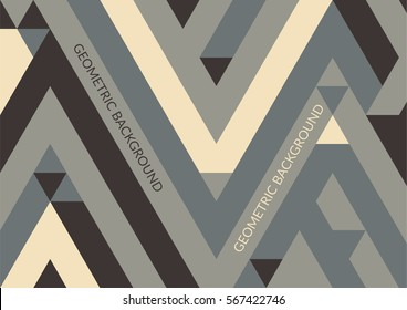 Trendy horizontal geometric background, triangle pattern field. Vector illustration.