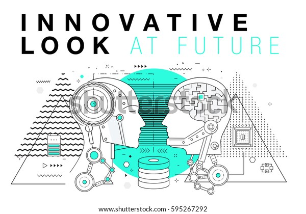 Trendy Innovation Systems Layouts Polygonal Contour Stock Vector Royalty Free 595267292