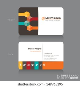 Trendy Isometric Business cards Design Vector Template layout