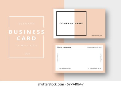trendy minimal abstract business card template のベクター画像素材