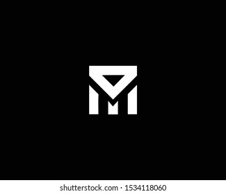 Trendy and Minimalist Letter DM MD Logo Design in Black and White Color , Initial Based Alphabet Icon Logo