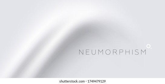 Trendy Neumorphism style liquid plastic interface background. Soft, clear and simple futuristic Neo Morphism shape elements design. Eps10 vector illustration.