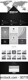 Trendy One page website design template. Vector