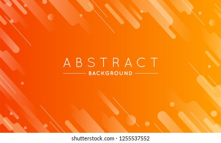 Trendy Orange Liquid Background with Lines for Use in Design. Eps10 vector Minimal Landing Page.