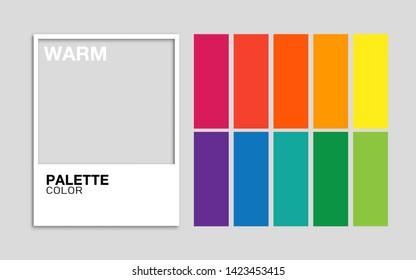 Trendy palette color warm in vector format