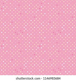 Trendy pattern polka dot. Vector isolated on trend pastel pink background. Concept Satisfying slime. ASMR.
