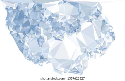 Trendy polygonal background with abstract mosaic pattern. Blank space for text.