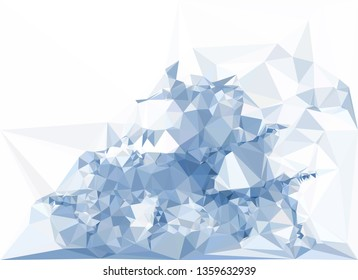Trendy polygonal blue background with abstract mosaic pattern. Blank space for text.
