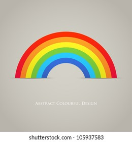 Trendy Rainbow Creative Icon Vector Design