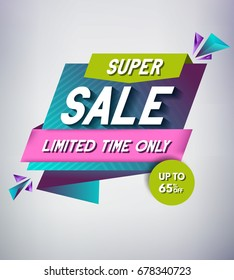 Trendy Sale Banner Design. Vector Illustration