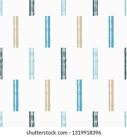 Trendy seamless pattern designs. The shapes of the strips. Cage. Patchwork texture. Weaving. Vector geometric background. Can be used for wallpaper, textile, invitation card, wrapping, web page backgr