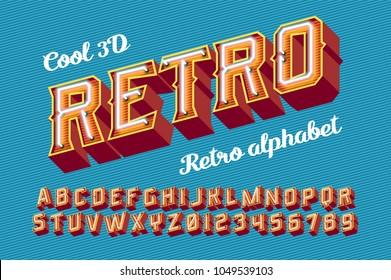 Trendy set for decoration design. Retro alphabet vector font. Vintage light sign. Neon glow  vector illustration.