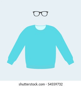trendy set of sweater and sunglasses