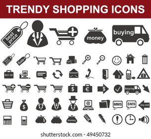 Trendy Shopping Icons