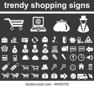 Trendy Shopping Signs