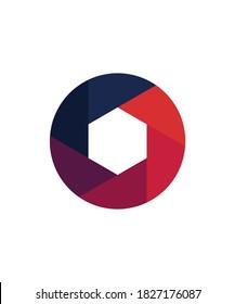 Trendy shutter icon logo idea