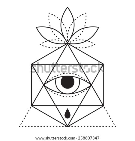 Trendy Style Geometric Tattoo Design Hipster Stock Vector (Royalty ...