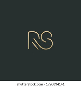 Trendy stylish modern RS initial based letter icon logo