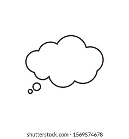 Trendy think bubble in flat style. Cloud line art. vector illustration