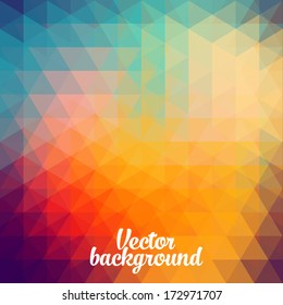 trendy vector the background of geometric patterns vintage retro style graphics, geometry Cubism