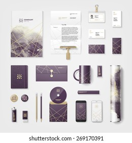 Trendy watercolor cross processing corporate identity template. High quality vector design element