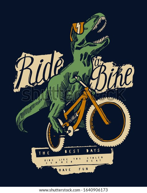 trex-dinosaur-riding-bicycle-sunglasses-
