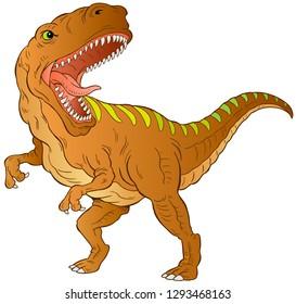 T-Rex dinosaur vector illustration