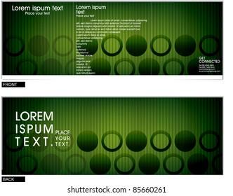 Tri fold brochure business cover design template. Vector Illustration