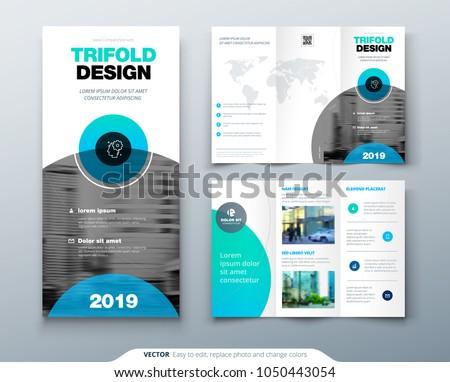 tri fold brochure design business template stock vector royalty