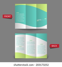 Tri fold brochure design. mock up.