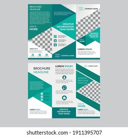 tri fold brochure template design