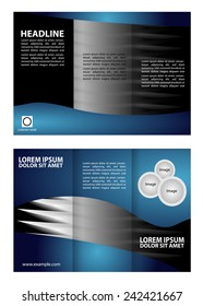 Tri Fold Corporate Brochure vector illustration