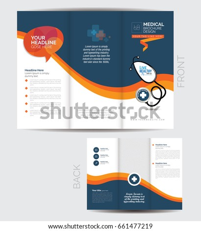 tri fold medical brochure design template stock vector royalty free