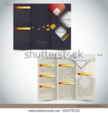 tri folder brochure leaflet mock stock vector royalty free