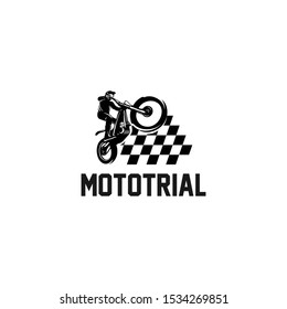 trial motorcycle champions silhouette logo