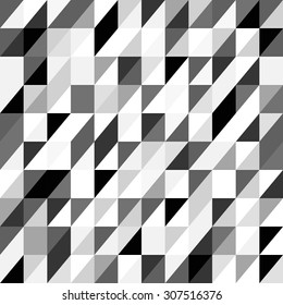 Triangle abstract background / white black gray