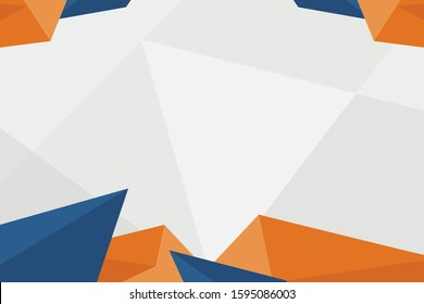 Triangle abstract geometric banner backgrounds. Modern Horizontal Background design with attractive colors, a combination of grey, navy  and orange in flat design style.