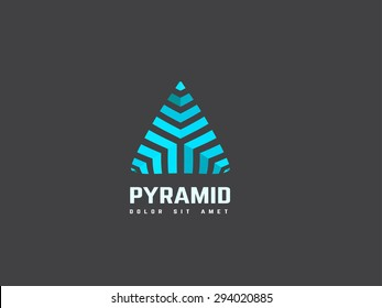 Triangle abstract logo design template. Creative business symbol. Vector logotype.