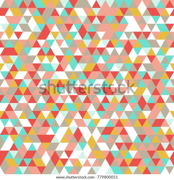 Triangle Abstract Polygon Shapes Vector Pattern Stock Vector