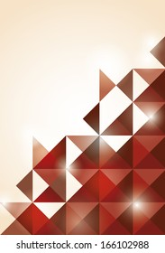 Triangle abstract red background