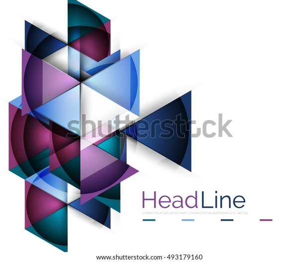 Triangle abstract vector background. Colorful modern composiition